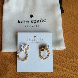 Kate Spade gold earrings/jackets.  NWT ♠️♠️♠️